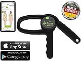 eaglefit Bluetooth Caliper, digitales Körperfett-Messgerät mit App, Fettmesszange für Körperfett-Anteil, Fitness-Erfolge messen mit Körperfettzange