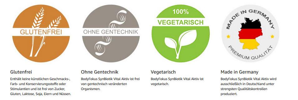 BodyFocus: Gluenfrei - ohne Gentechnik - Vegetarisch - Made in Germany